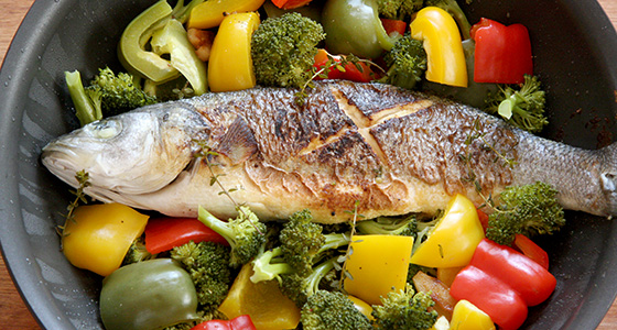 Recip / レシピ更新「Steamed Seabass and vegetables with salted lemon / スズキと野菜の塩レモン蒸し」